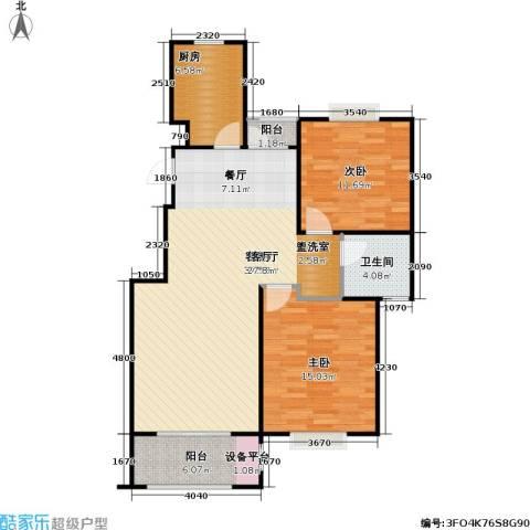 金光大道二期文昌花园2室1厅1卫1厨88.00㎡户型图