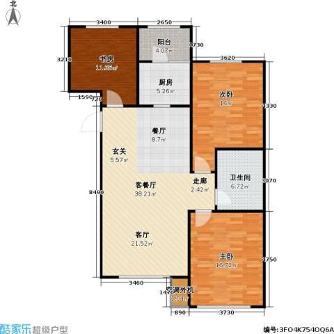 牡丹城3室1厅1卫1厨132.00㎡户型图