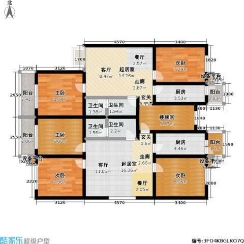 新月家园5室0厅4卫2厨113.00㎡户型图