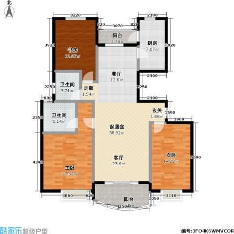东方名筑-馥园3室0厅2卫1厨107.90㎡户型图