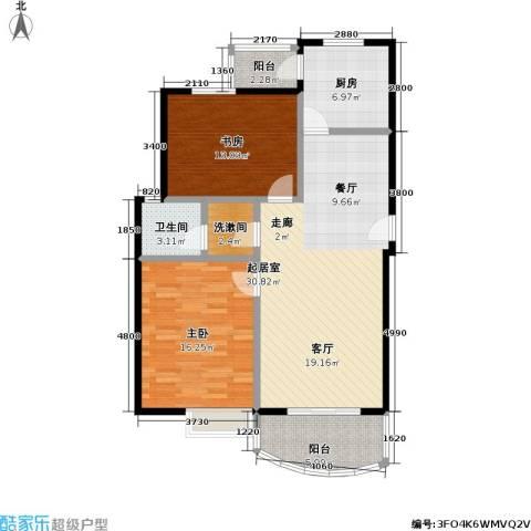 东方名筑-馥园2室0厅1卫1厨86.00㎡户型图