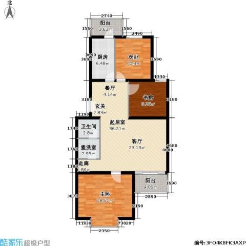 飞腾温泉家园3室0厅1卫1厨107.00㎡户型图