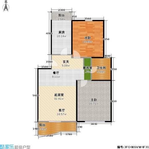 景华世纪园2室0厅1卫1厨90.00㎡户型图