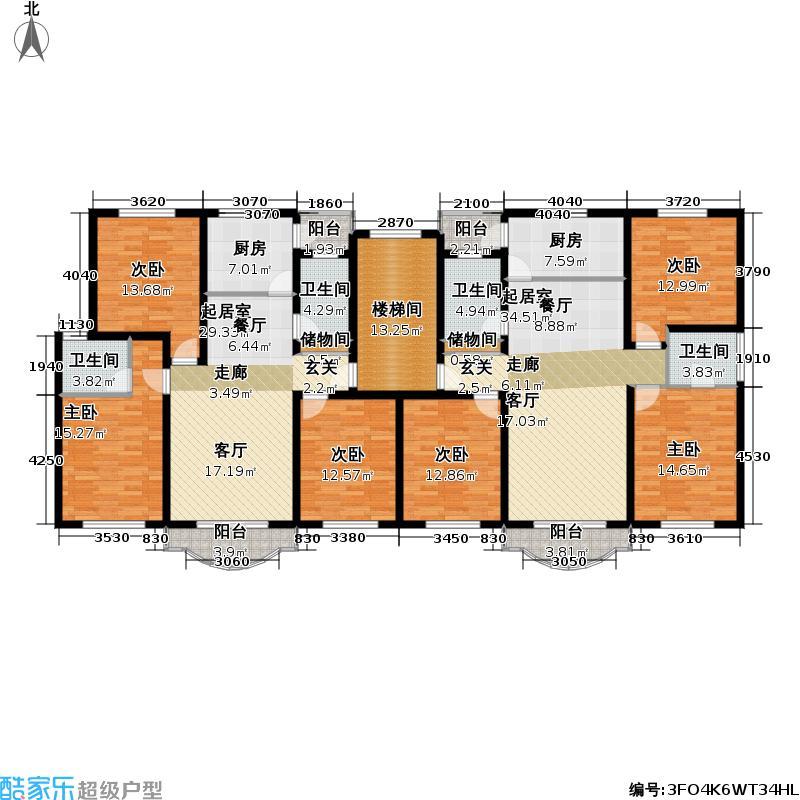 景浦公寓房型户型6室4卫2厨