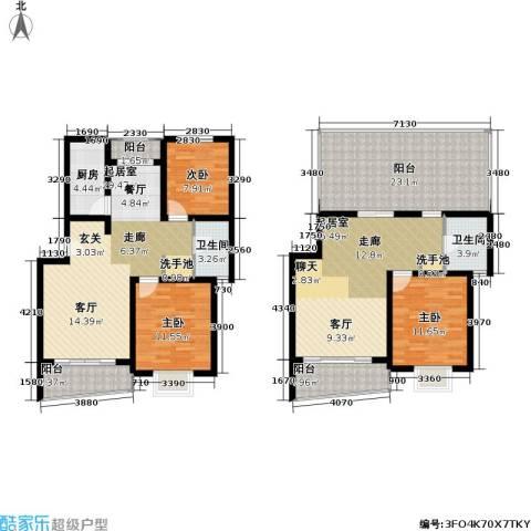 绿邑新境3室0厅2卫1厨149.00㎡户型图