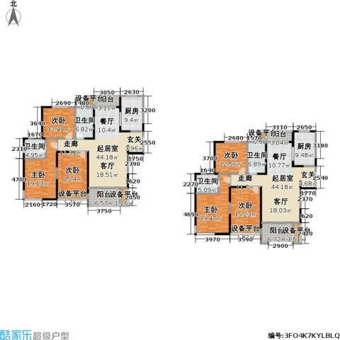 滨河花园6室0厅4卫2厨285.00㎡户型图