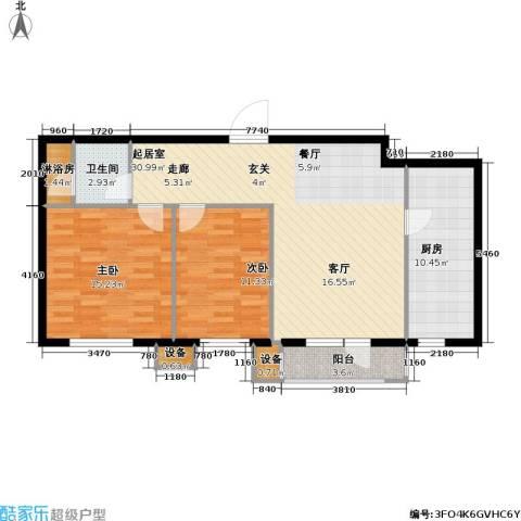万科魅力之城尊域2室0厅1卫1厨108.00㎡户型图