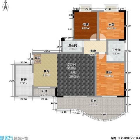 升伟・新天地(二期)3室0厅2卫1厨112.00㎡户型图