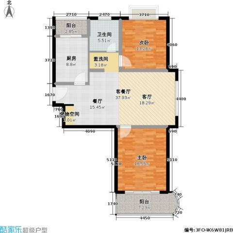 申地公寓二期2室1厅1卫1厨94.15㎡户型图