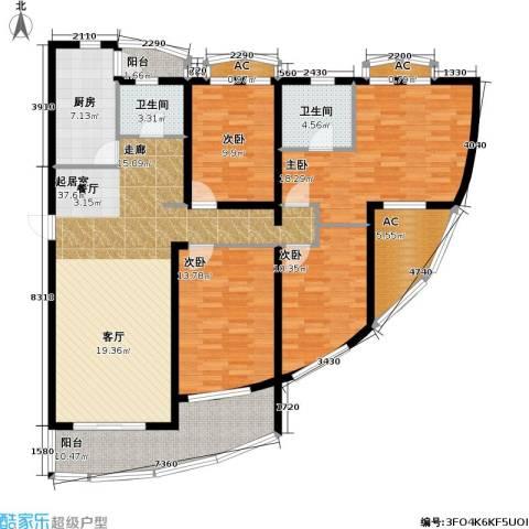 浦江花苑4室0厅2卫1厨143.00㎡户型图