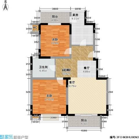 新明星花园三期2室0厅1卫1厨94.62㎡户型图