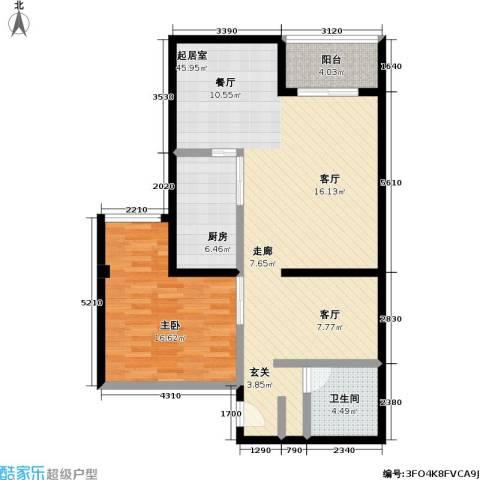 新青年公寓1室0厅1卫1厨89.00㎡户型图