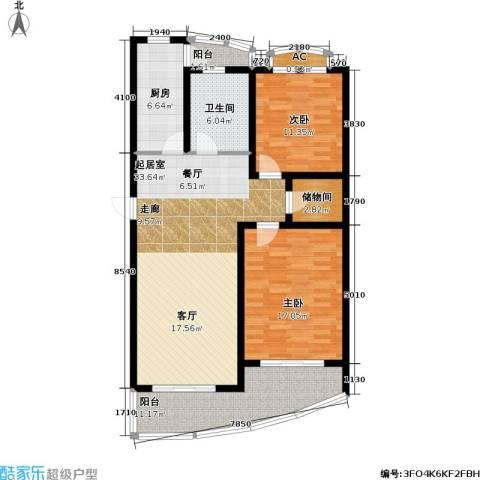 浦江花苑2室0厅1卫1厨91.24㎡户型图