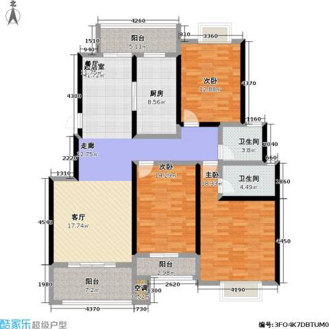 阿里山花园三期3室0厅2卫1厨174.00㎡户型图