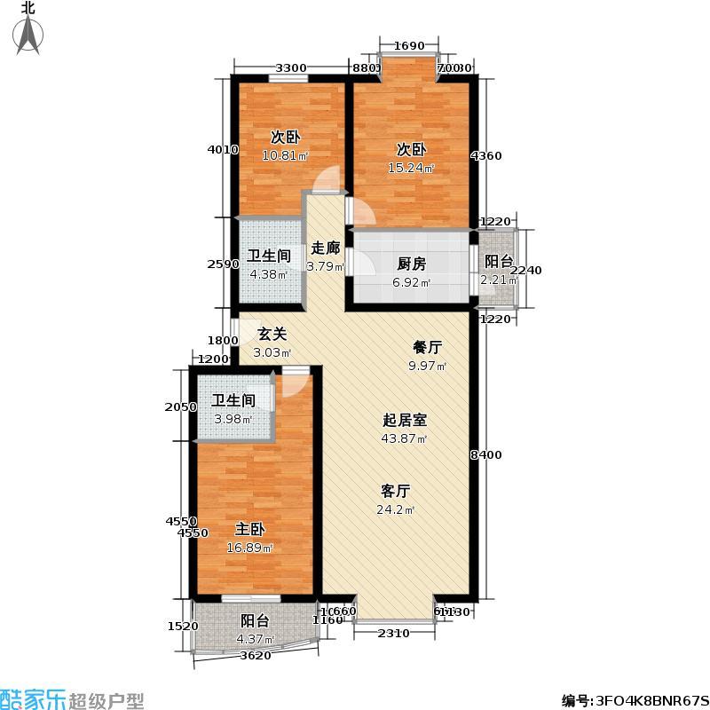 香林郡・运河134.22㎡3室1厅2卫户型