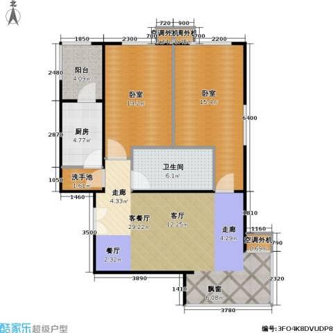 时代绿荫1厅1卫1厨105.00㎡户型图