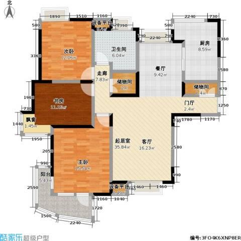 金沙雅苑(三期)3室0厅1卫1厨124.00㎡户型图