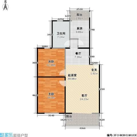 柏林在线2室0厅1卫1厨89.00㎡户型图