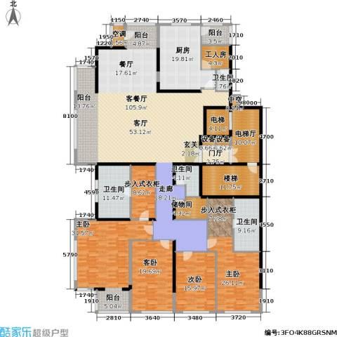融泽府4室1厅4卫1厨363.00㎡户型图