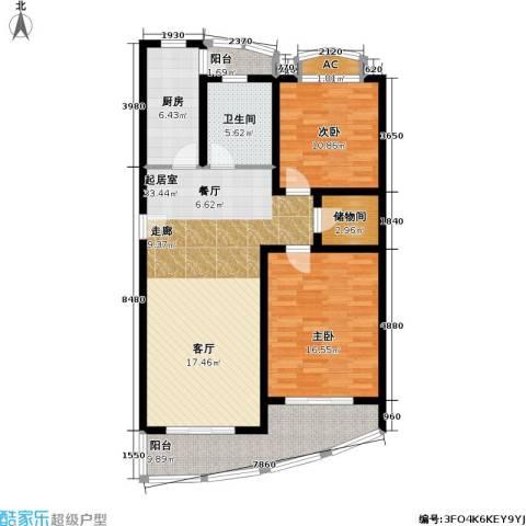 浦江花苑2室0厅1卫1厨88.45㎡户型图