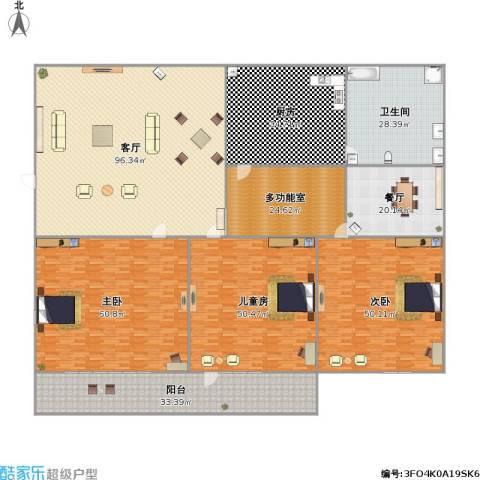 九九花园3室2厅1卫1厨517.00㎡户型图