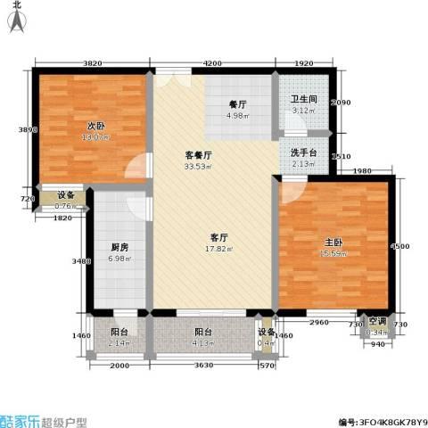 青塔东里小区2室1厅1卫1厨109.00㎡户型图
