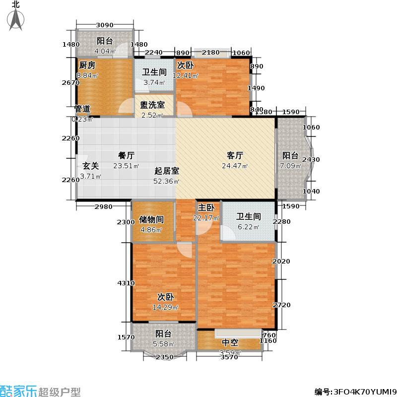 伊东苑二期147.00㎡房型: 三房; 面积段: 147 -157 平方米; 户型