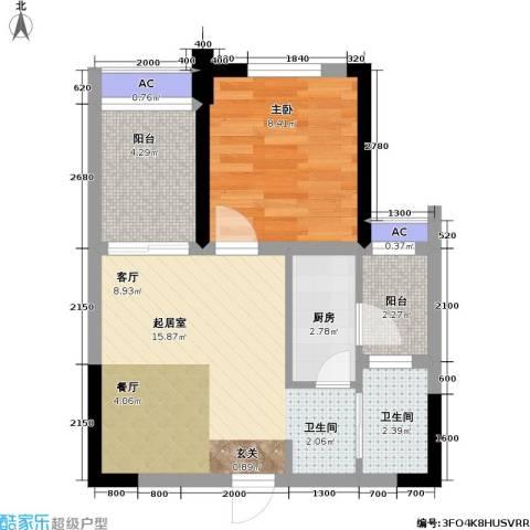 金科蚂蚁SOHO二代1室0厅1卫1厨55.00㎡户型图