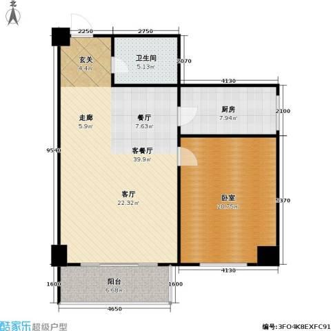 逸品尚枫公寓1厅1卫1厨86.00㎡户型图