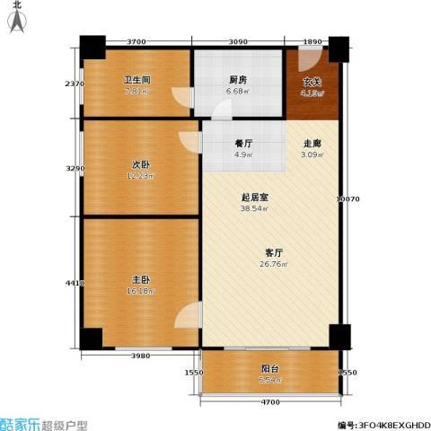 逸品尚枫公寓2室0厅1卫1厨95.00㎡户型图