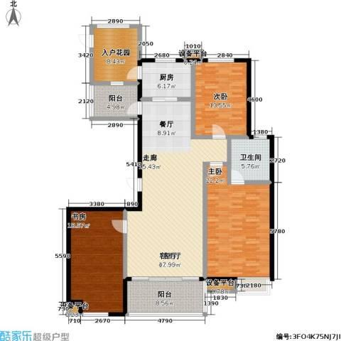 高新名门3室1厅1卫1厨150.00㎡户型图