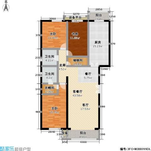 未来城・益宸嘉苑3室1厅2卫1厨168.00㎡户型图