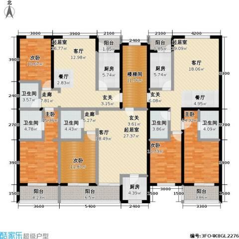 丰卉家园5室0厅5卫3厨311.00㎡户型图