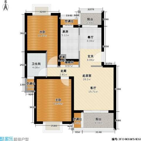 紫晶南园一期2室0厅1卫1厨104.00㎡户型图