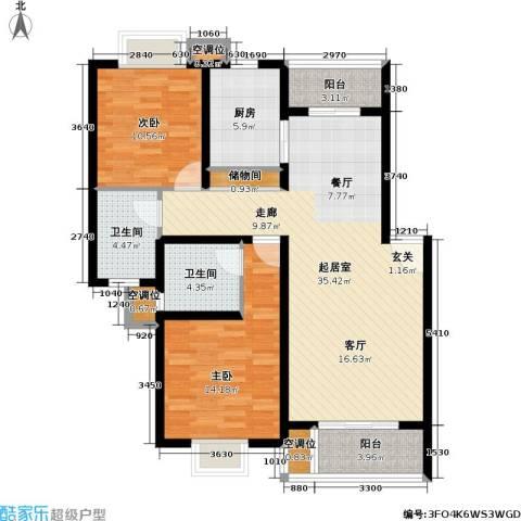 紫晶南园一期2室0厅2卫1厨123.00㎡户型图