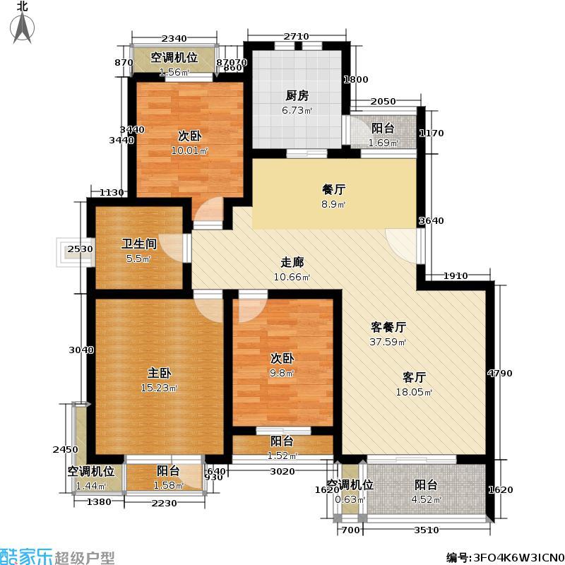 长桥三街坊109.79㎡房型: 三房; 面积段: 109.79 -132.19 平方米; 户型