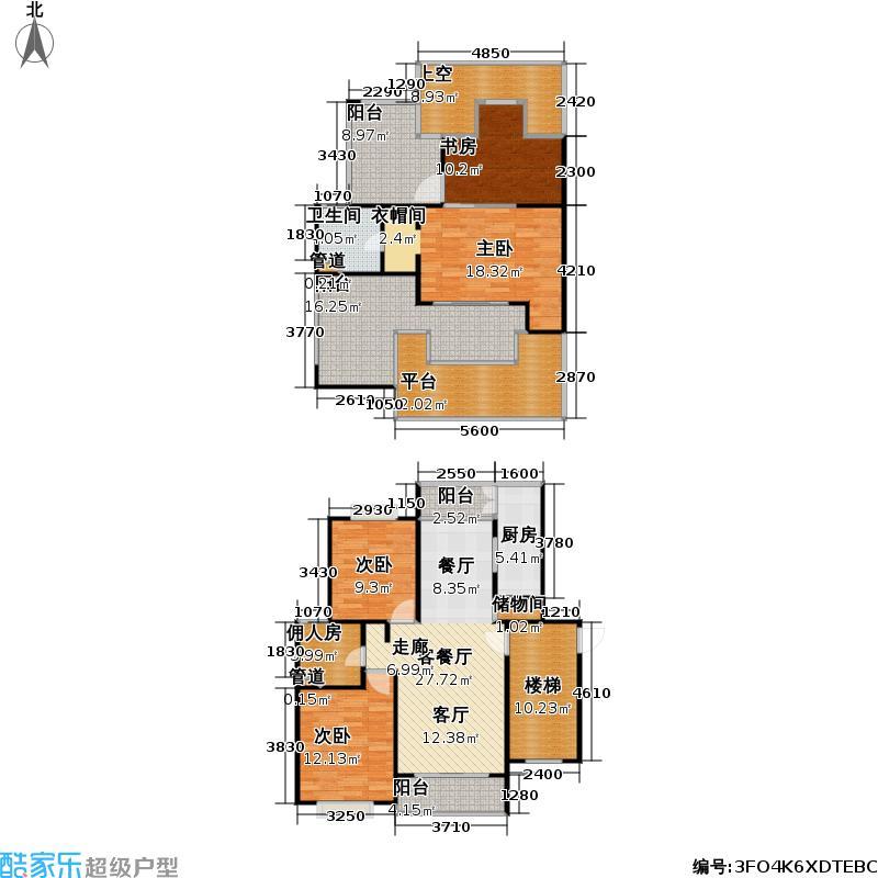 金沙嘉年华二期120.00㎡房型: 复式; 面积段: 120 -180 平方米; 户型