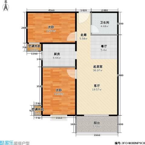 兴琦家园2室0厅1卫0厨87.00㎡户型图
