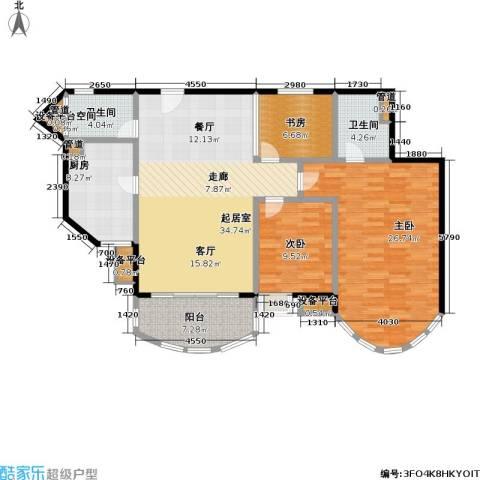 珠江绿洲3室0厅2卫1厨117.00㎡户型图