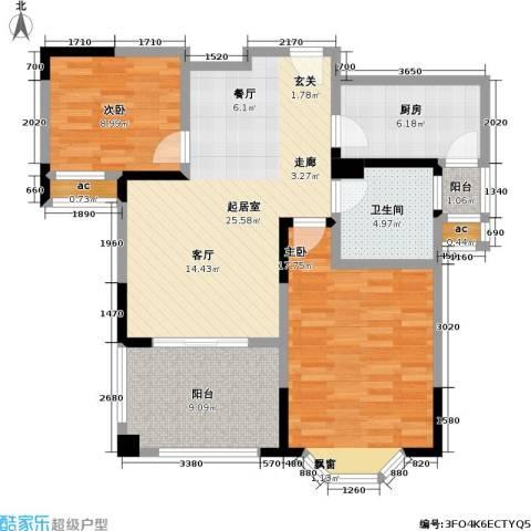 永新秀郡2室0厅1卫1厨87.00㎡户型图
