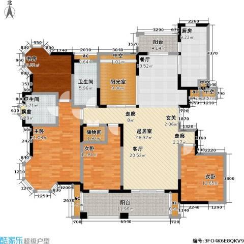 永新秀郡4室0厅2卫1厨184.00㎡户型图