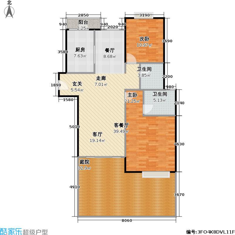 临夏路98弄79.46㎡房型: 二房; 面积段: 79.46 -97.33 平方米; 户型