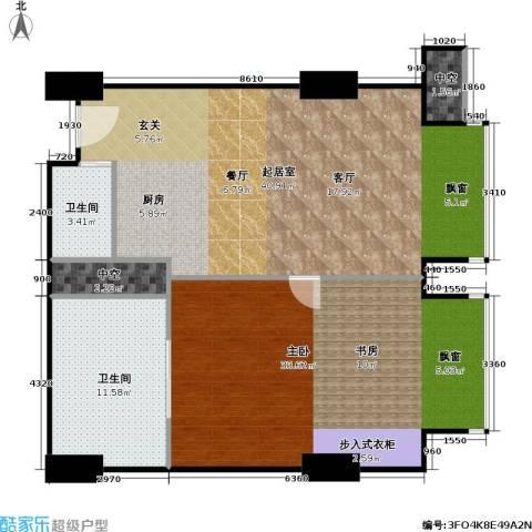 工体3号1室0厅2卫0厨100.00㎡户型图