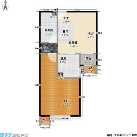 中景理想家1室0厅1卫1厨59.00㎡户型图