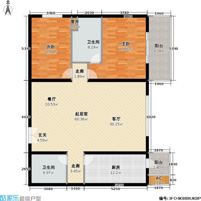 国展・国际152.83㎡2室-1厅-2卫-1厨户型