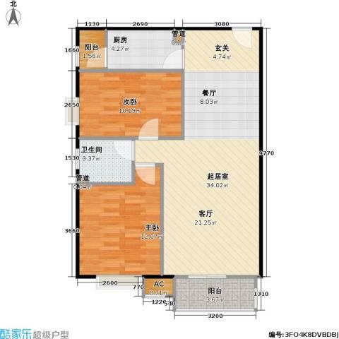 中景理想家2室0厅1卫1厨95.00㎡户型图