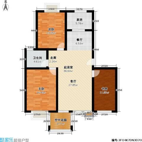 花前树下(三期)3室0厅1卫1厨106.00㎡户型图