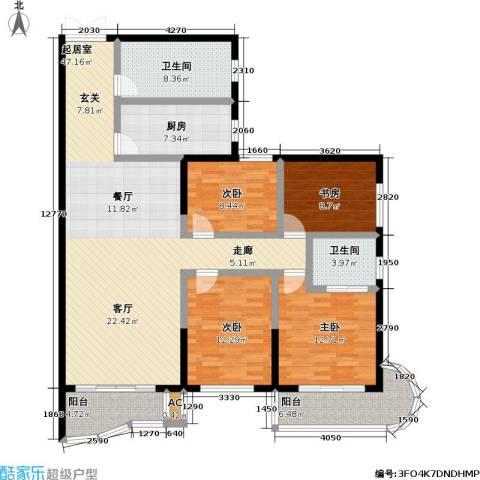 鹦鹉花园(五期)4室0厅2卫1厨143.00㎡户型图