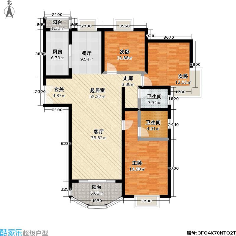 天科苑134.00㎡房型: 三房; 面积段: 134 -156 平方米; 户型