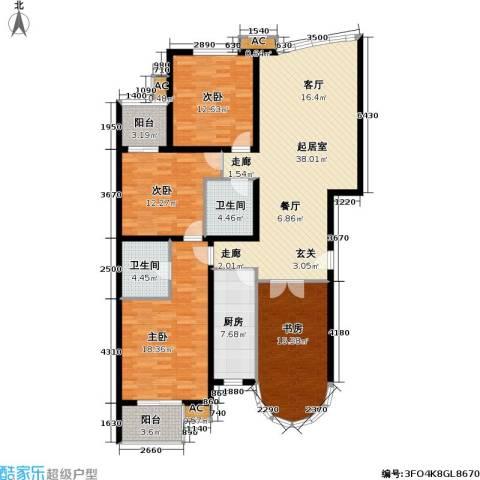 世嘉丽晶4室0厅2卫1厨138.00㎡户型图